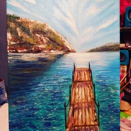 Картины, постеры, гобелены, панно -  живопись морской пейзаж, 0