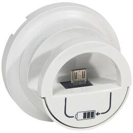 Док-станции - Накладка – док-станция Legrand Celiane для зарядной USB розетки. Белая, 0