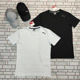 Футболки и майки - Мужская футболка пума белая черная, 0