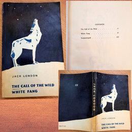 """Литература на иностранных языках - Книга """"Зов предков"""" и """"Белый клык"""", Джек Лондон,1971, на английском языке, 0"""
