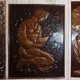 Картины, постеры, гобелены, панно - Чеканка панно настенное СССР медь, 0