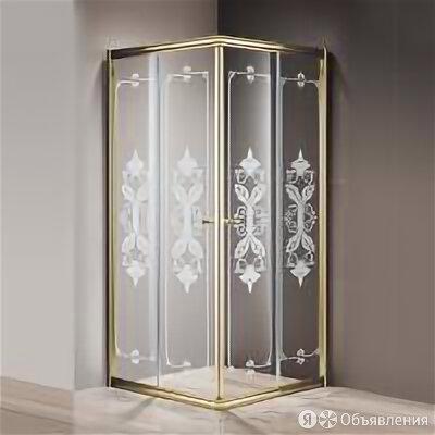 Cezares Душевой уголок Cezares Giubileo-A-2-90 стекло с узором, золото по цене 59190₽ - Полки, шкафчики, этажерки, фото 0