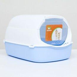 Туалеты и аксессуары  - Туалет-домик с фильтром, 43 х 32 х 28 см, бело-синий, 0