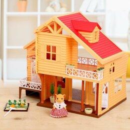 Лежаки, домики, спальные места - Дом-дача для зверей, с мебелью и аксессуарами, 0