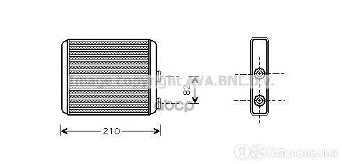 Радиатор Отопителя Chevrolet: Meriva 1.8/1.8 Ethanol 03- Opel: Meriva 1.3 Cdt... по цене 3090₽ - Отопление и кондиционирование , фото 0