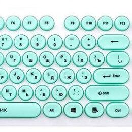 Клавиатуры - Клавиатура Oklick 400MR белый/мятный, 0