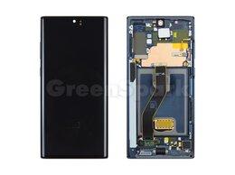 Дисплеи и тачскрины - Дисплей для Samsung N975F Galaxy Note10 Plus в рамке + тачскрин (черный) 100%, 0