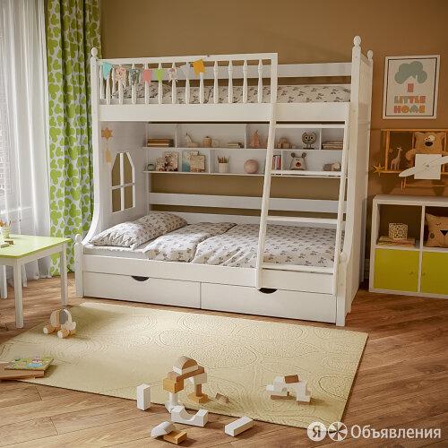Детская двухъярусная кровать по цене 59990₽ - Кроватки, фото 0