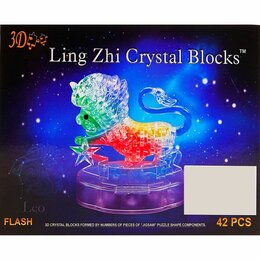 Пазлы - Пазл 3D кристаллический, «Знак зодиака Лев», 42 детали, световые эффекты, раб..., 0