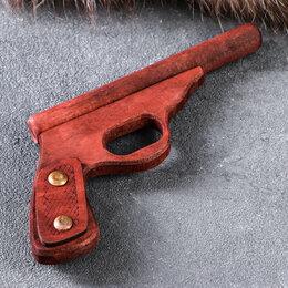 """Игрушечное оружие и бластеры - Сувенирное деревянное оружие """"Пистолет полицейский"""", 25 см, массив бука, 0"""