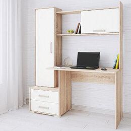 Компьютерные и письменные столы - Стол компьютерный Квартет 9 белый 💥 0733💥, 0