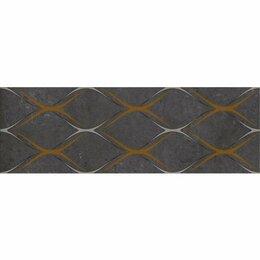 Керамическая плитка - Декор Silvia black 03 30x90 (5шт), 0