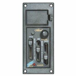 Оборудование для звукозаписывающих студий - Alice EQ-A505R эквалайзер со звукоснимателем, 3-полосный, 0