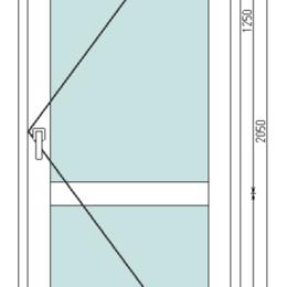 Входные двери - Дверь из оконного профиля белая с тонированным стеклопакетом, 0