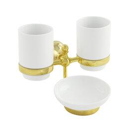 Мыльницы, стаканы и дозаторы - Настенный двойной стакан VERAGIO GIALETTA, 0