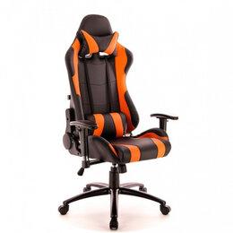 Компьютерные и письменные столы - Кресло Everprof Lotus S2 Экокожа Черный/Оранж, 0