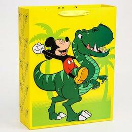 """Подарочная упаковка - Пакет ламинат вертикальный """"Dino"""", Микки Маус, 31х40х11 см   4628784, 0"""
