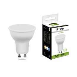 Лампочки - Лампа светодиодная LB-560 FR MR16 9Вт GU10 4000К 780Лм 50х57мм FERON, 0