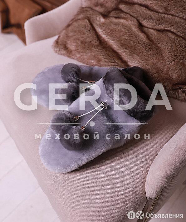 Варежки из мутона серые по цене 1900₽ - Шубы, фото 0