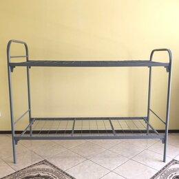 Мебель для учреждений - Двухъярусная металлическая кровать усиленная, 0