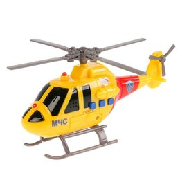 """Вертолеты - Вертолет МЧС """"Технопарк"""" 19 см, со светом и звуком, подвижные элеме..., 0"""