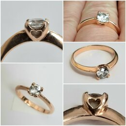Кольца и перстни - Золотое кольцо, 17,5, 0
