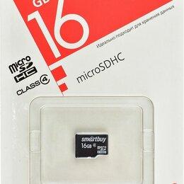 Карты памяти - Карта памяти MicroSD  16GB  Smart Buy Сlass 4 без адаптера, 0