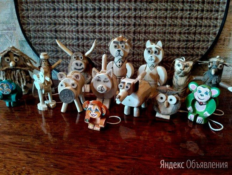 Деревянные ёлочные фигурки по цене 50₽ - Ёлочные украшения, фото 0
