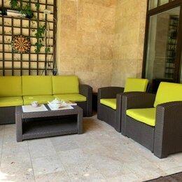 Аксессуары для садовой мебели - Комплект чехлов для Rattan Premium 5 желтый, 0