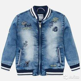 Куртки и пуховики - Джинсовка Mayoral для мальчика, 5 лет, 0