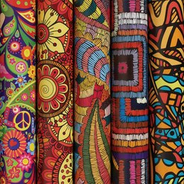 Подарочная упаковка - Бумага упаковочная мелованная 70х100 см ЗОЛОТАЯ СКАЗКА «Ethnic 1», 5 дизайнов, 7, 0