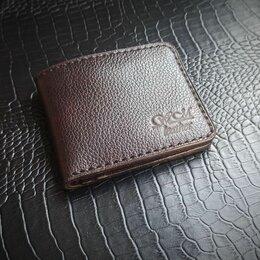 Кошельки - Мужской кошелек бифолт из кожи, 0