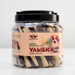 Лакомства  - Лакомство для собак 'Улыбка White' жевательные палочки для белизны зубов, туб..., 0