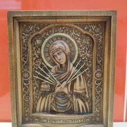 Иконы - Резная икона божией матери семистрельная, 0