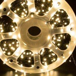 Новогодний декор и аксессуары - Гирлянда новогодняя 50 метров светодиодная led (в бухте/бобине) 220v, 0