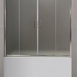 Шторы и карнизы - Шторка BelBagno Uno для ванны 1500/1450мм раздвижная стекло прозрачное хром U..., 0