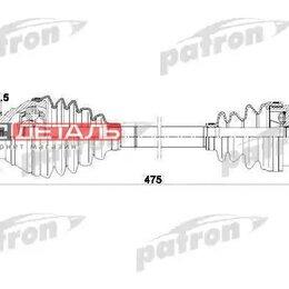Трансмиссия  - PATRON PDS0251 Полуось передняя левая 36x478x59,5 AUDI A3 03- \ SEAT LEON 05-..., 0