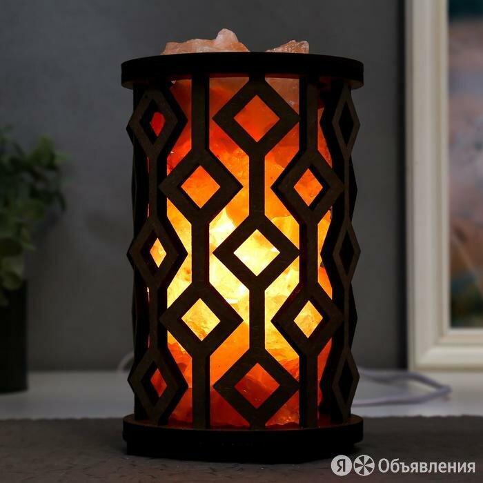 Соляной светильник с диммером цилиндр 'Ромбы' 1х15Вт Е14, 1,5-2 кг 19х12х12 см по цене 2472₽ - Люстры и потолочные светильники, фото 0