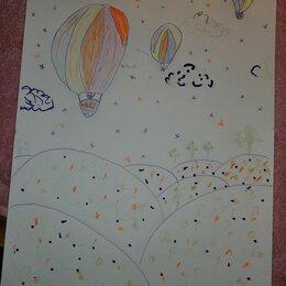 Картины, постеры, гобелены, панно - Рисование путь к звездам в старшей группе, 0