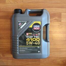 Масла, технические жидкости и химия - Масло моторное синтетическое liqui moly 5w40 top tec 4100 5 литров , 0