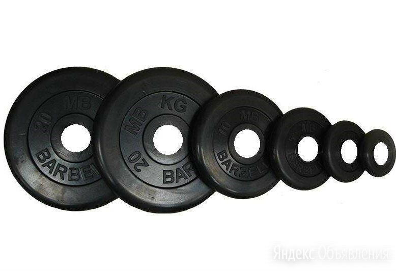 Диск Barbell Atlet черный обрезиненный 31 мм по цене 5470₽ - Штанги и грифы, фото 0