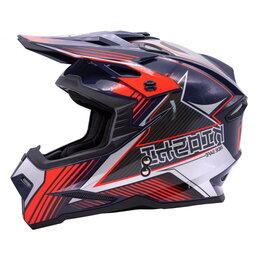 Мотоэкипировка - Шлем KIOSHI Holeshot 801 кроссовый синий/серый, 0