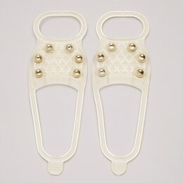 Кошки и снегоступы - Ледоходы Стандарт 6+6 шипов для светлой обуви, серые, для 36 - 45 размера, 0