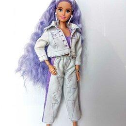 Аксессуары для кукол - Джинсовый костюм для куклы Барби, 0
