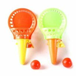 Игрушки - Набор: поймай мячик, ловушка 2шт. 18 см, мяч 2 шт., 0