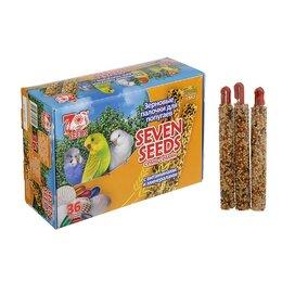 Игрушки и декор  - Набор палочки 'Seven Seeds' для попугаев с витаминами и минералами, коробка 3..., 0
