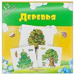 """Дидактические карточки - Развивающие карточки """"Антураж"""" Деревья 120*120 мм 12 шт, в блистере..., 0"""