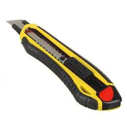 Пилы, ножовки, лобзики - Нож пластиковый усиленный с сегментированным  лезвием 18мм FALCO Profi..., 0