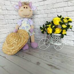 Рукоделие, поделки и сопутствующие товары - Интерьерная текстильная кукла Коровка, ручная работа, 0