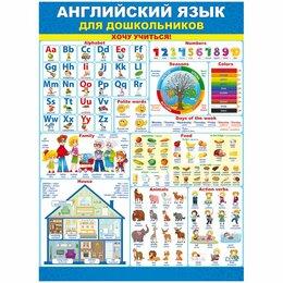 Постеры и календари - Плакат настенный «Английский язык для дошкольников», 440*600мм, 0